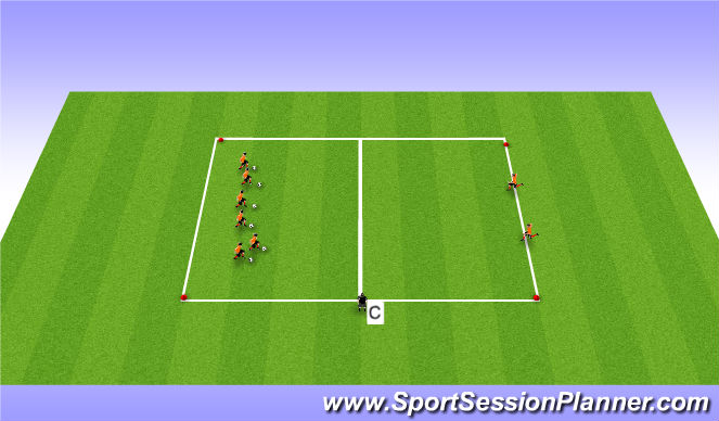 Football/Soccer Session Plan Drill (Colour): Version 2