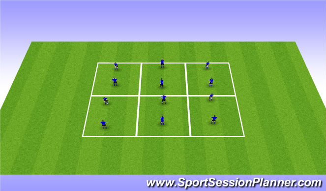 Football/Soccer Session Plan Drill (Colour): Technical - Pairs