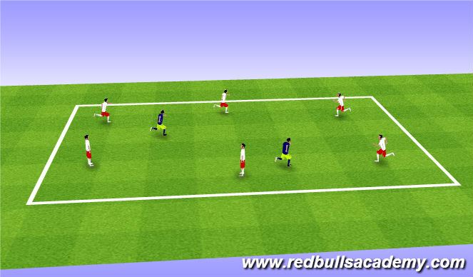 Football/Soccer Session Plan Drill (Colour): Escaped Monkeys(Ghostbusters)