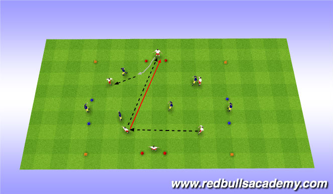 Football/Soccer Session Plan Drill (Colour): Conditined Gae