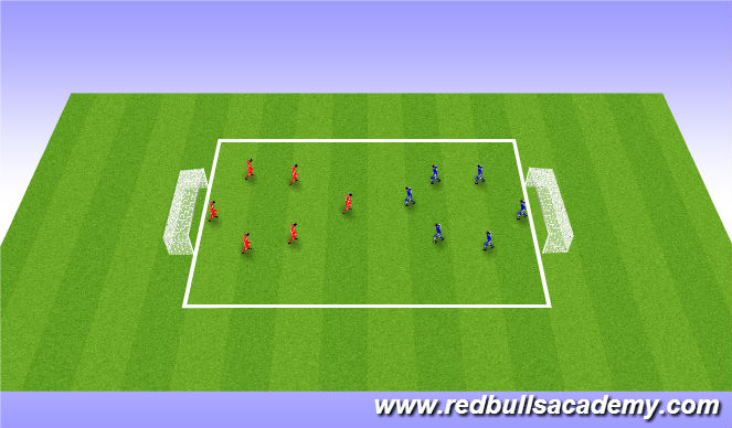 Football/Soccer Session Plan Drill (Colour): Scrimmage (20min)