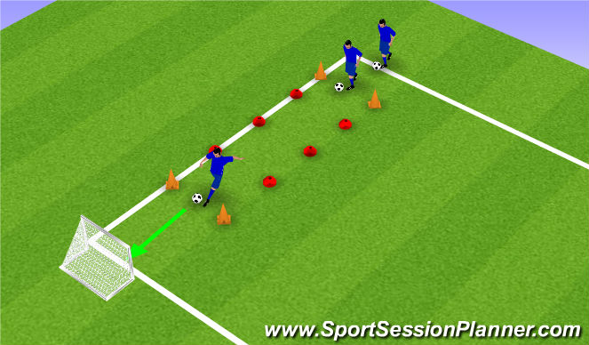 Football/Soccer Session Plan Drill (Colour): Schietoefening