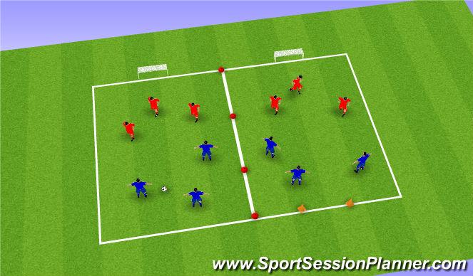 Football/Soccer Session Plan Drill (Colour): Partijtje