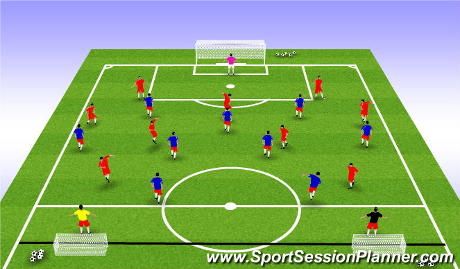 Football/Soccer Session Plan Drill (Colour): SSGame Playing out from the back