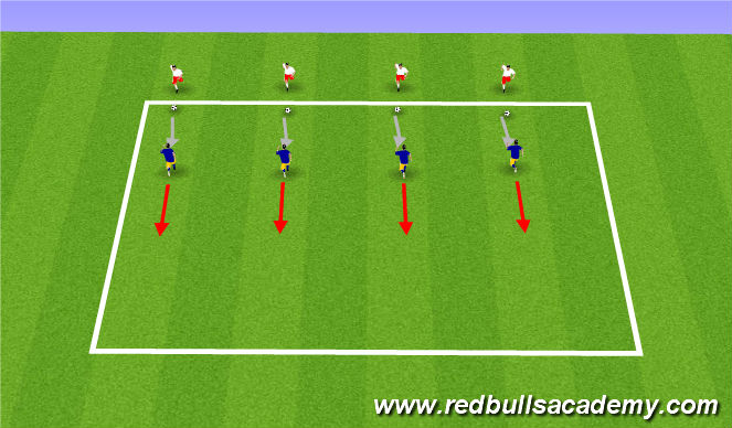 Football/Soccer Session Plan Drill (Colour): Technical - Jockey