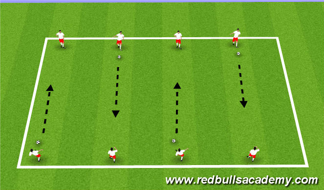 Football/Soccer Session Plan Drill (Colour): Arival Activity