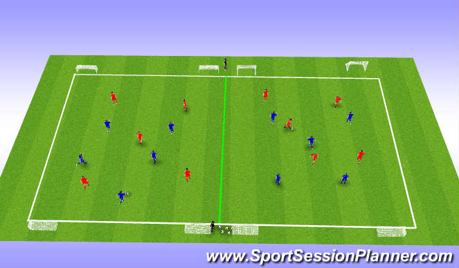 Football/Soccer Session Plan Drill (Colour): Regular game