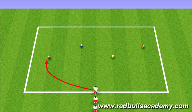 Football/Soccer Session Plan Drill (Colour): Reaction Warm-Up