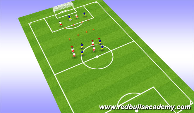 Football/Soccer Session Plan Drill (Colour): Swerve Inside