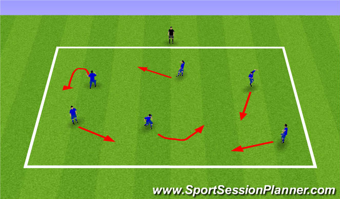 Football/Soccer Session Plan Drill (Colour): Red/Green Light