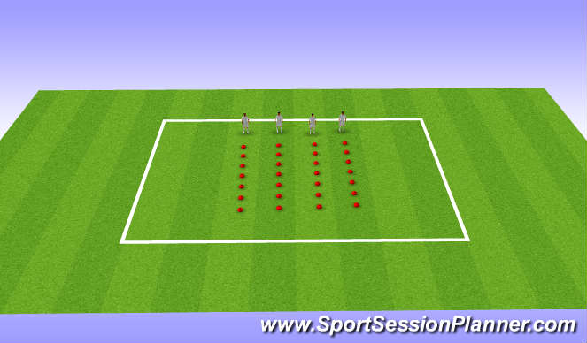 Football/Soccer Session Plan Drill (Colour): U12s, Week 16, Session 1, Landing Mechanics,