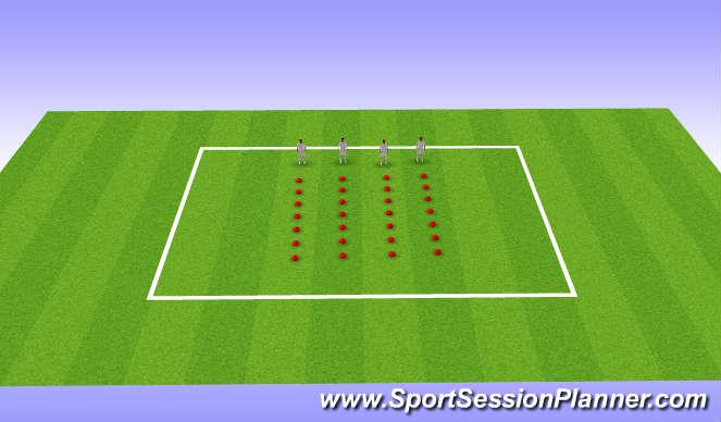 Football/Soccer Session Plan Drill (Colour): U12s, Week 16, Session 1, Landing Mechanics,