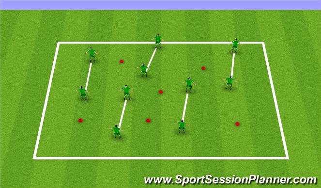 Football/Soccer Session Plan Drill (Colour): Core Skill Con....