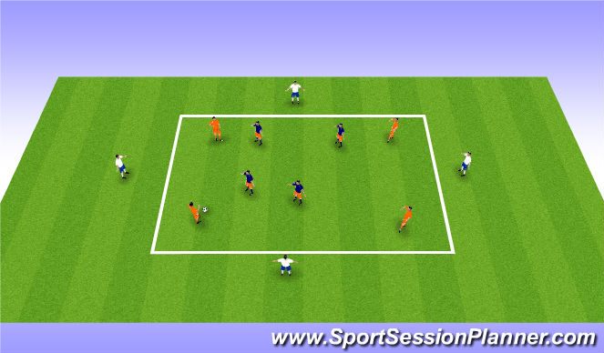 Football/Soccer Session Plan Drill (Colour): Small Side Activity (15 mins)