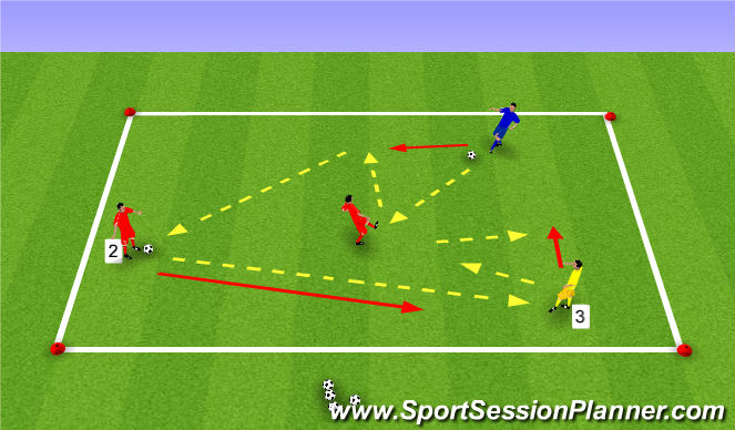 Football/Soccer Session Plan Drill (Colour): Pass & Recieve Warm Up