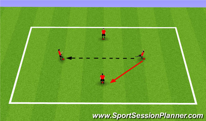 Football/Soccer Session Plan Drill (Colour): Moving Diamond