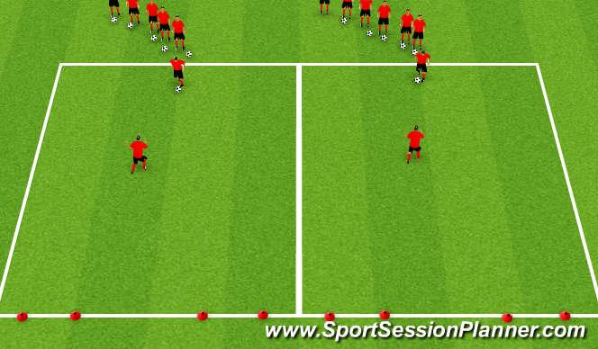 Football/Soccer Session Plan Drill (Colour): Fast Break Attack