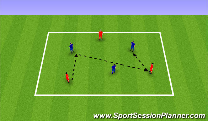 Football/Soccer Session Plan Drill (Colour): Passing alternate colours warm up. Rozgrzewka z podaniami naprzemian.