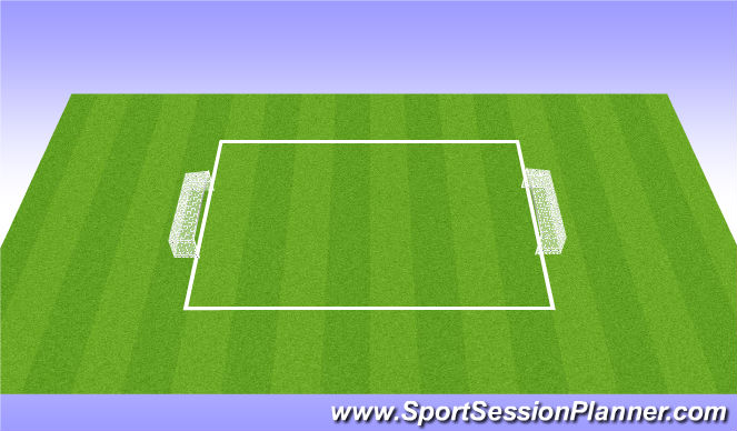 Football/Soccer Session Plan Drill (Colour): 2v2 flying colors