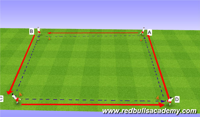 Football/Soccer Session Plan Drill (Colour): Main Theme - Backfoot