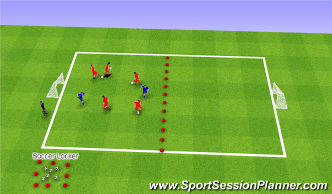 Football/Soccer Session Plan Drill (Colour): Stuck in The Mud with Ball