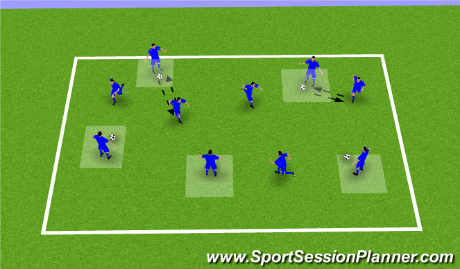 Football/Soccer Session Plan Drill (Colour): Want the ball