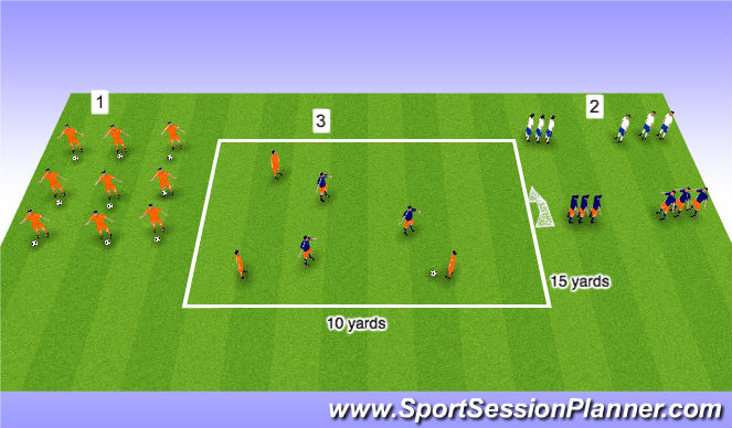 Football/Soccer Session Plan Drill (Colour): Warm-up (30mins)