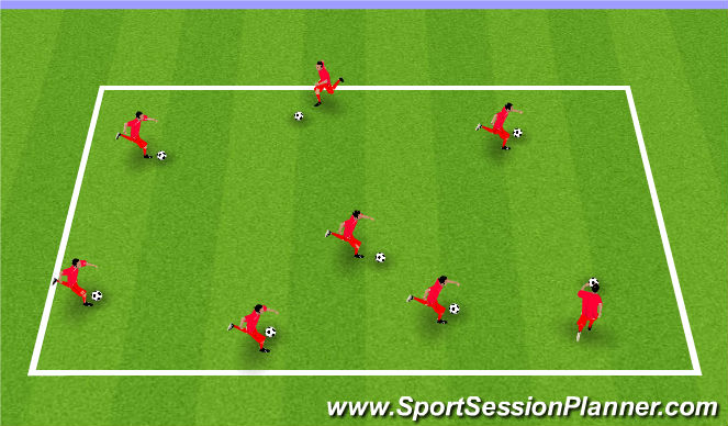 Football/Soccer Session Plan Drill (Colour): Art Attack