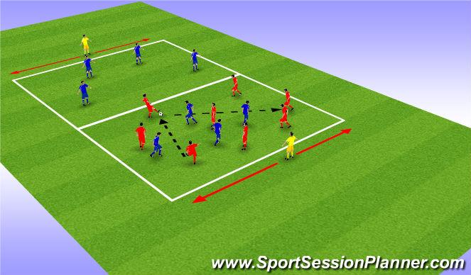 Football/Soccer Session Plan Drill (Colour): 8v4 Possession (15 min)