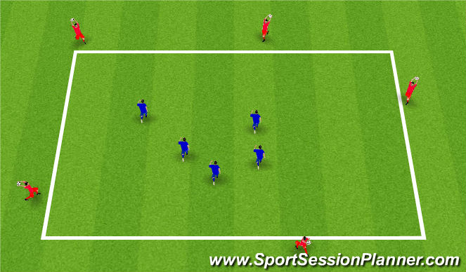 Football/Soccer Session Plan Drill (Colour): Unopposed Practice