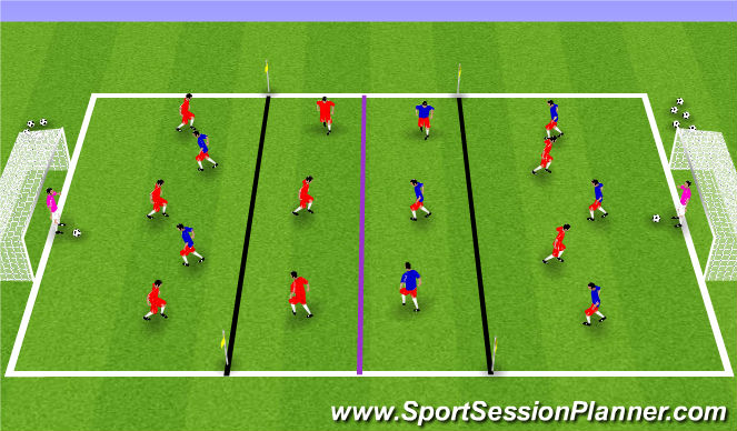 Football/Soccer Session Plan Drill (Colour): S.S.Game