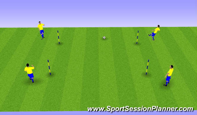 Football/Soccer Session Plan Drill (Colour): Passing Square