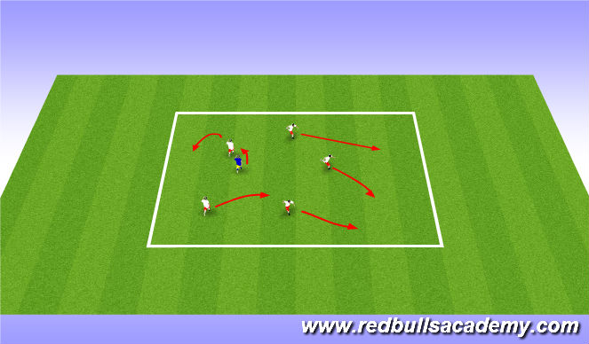 Football/Soccer Session Plan Drill (Colour): Activity 1 - freeze tag
