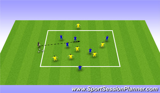 Football/Soccer Session Plan Drill (Colour): 50/50 to possession
