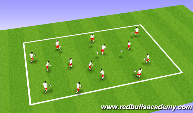 Football/Soccer Session Plan Drill (Colour): Juggling: Warm up