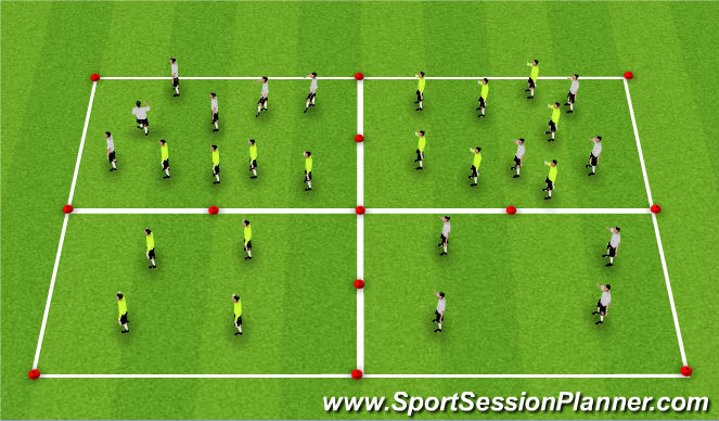Football/Soccer Session Plan Drill (Colour): Lose defenders