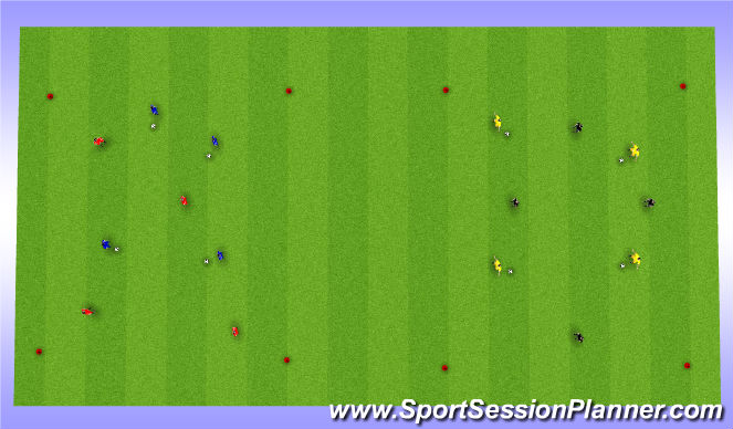 Football/Soccer Session Plan Drill (Colour): Warm-up technical exercise - Variation