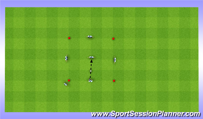 Football/Soccer Session Plan Drill (Colour): Pinnies