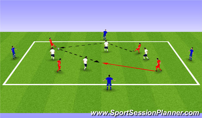 Football/Soccer Session Plan Drill (Colour): 8v4 Possession