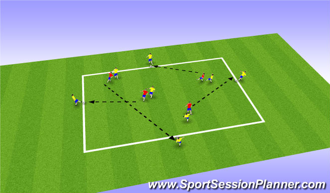 Football/Soccer Session Plan Drill (Colour): Recieving the Ball & Movement