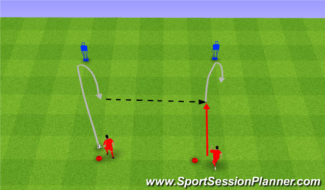 Football/Soccer Session Plan Drill (Colour): Drag back.