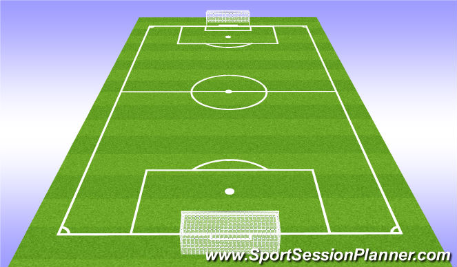 Football/Soccer Session Plan Drill (Colour): Play - 6v6+1
