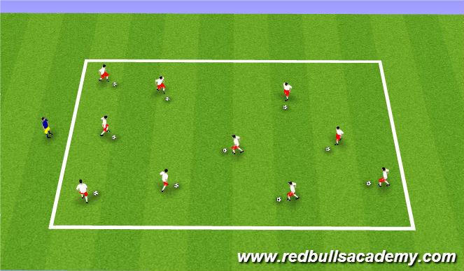 Football/Soccer Session Plan Drill (Colour): Body Ball