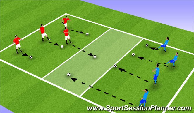 Football/Soccer Session Plan Drill (Colour): Clean  your Yard