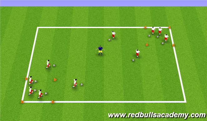 Football/Soccer Session Plan Drill (Colour): Yogi Bear's Picnic