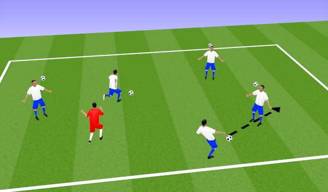 Football/Soccer Session Plan Drill (Colour): Warm-Up - Freeze