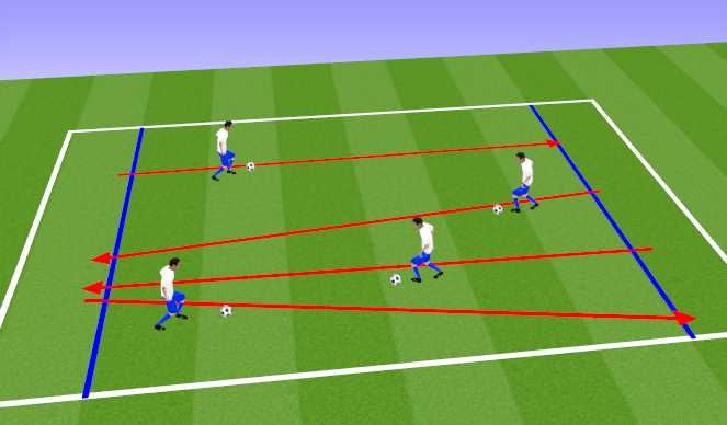 Football/Soccer Session Plan Drill (Colour): Crossing the Firery River