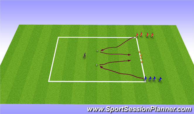 Football/Soccer Session Plan Drill (Colour): Opposed Practice 2