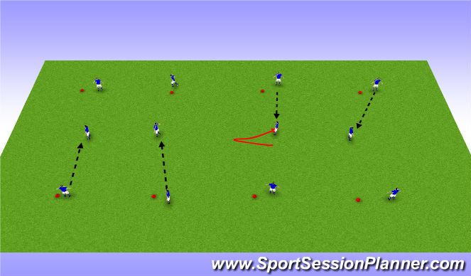 Football/Soccer Session Plan Drill (Colour): pass and receive warm up