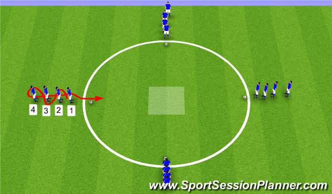 Football/Soccer Session Plan Drill (Colour): Fun Dribbling Warm Up